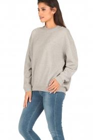 IRO | Oversized sweater Thyma | grijs  | Afbeelding 4