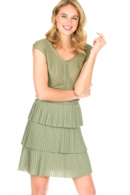 Patrizia Pepe |  Dress Valerie | green  | Picture 2