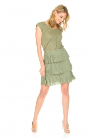 Patrizia Pepe |  Dress Valerie | green  | Picture 3