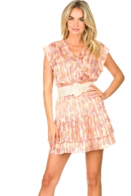 Dante 6 |  Skirt with print and lurex Wonderous | pink  | Picture 4