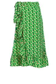 Lolly's Laundry |  Printed maxi skirt Amby | green  | Picture 1