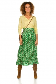 Lolly's Laundry |  Printed maxi skirt Amby | green  | Picture 3