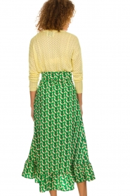 Lolly's Laundry |  Printed maxi skirt Amby | green  | Picture 5
