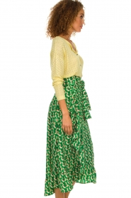 Lolly's Laundry |  Printed maxi skirt Amby | green  | Picture 4