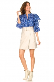 Dante 6 |  Leather wrap skirt Leith | natural  | Picture 5
