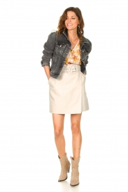 Dante 6 |  Leather wrap skirt Leith | natural  | Picture 3