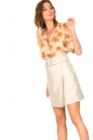 Dante 6 |  Leather wrap skirt Leith | natural  | Picture 7