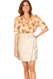 Dante 6 |  Leather wrap skirt Leith | natural  | Picture 2