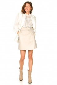 Dante 6 |  Leather wrap skirt Leith | natural  | Picture 4