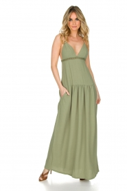 Patrizia Pepe | Maxi-jurk Abito | groen  | Afbeelding 2