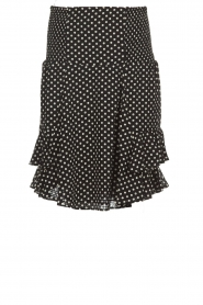 Lolly's Laundry |  Polkadot skirt Grace | black  | Picture 1