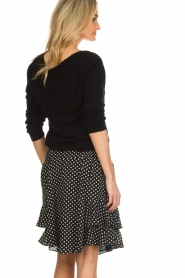 Lolly's Laundry |  Polkadot skirt Grace | black  | Picture 5