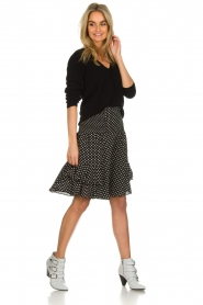 Lolly's Laundry |  Polkadot skirt Grace | black  | Picture 3