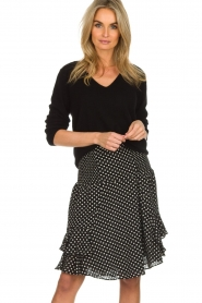 Lolly's Laundry |  Polkadot skirt Grace | black  | Picture 2