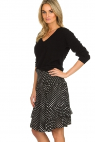 Lolly's Laundry |  Polkadot skirt Grace | black  | Picture 4