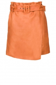 Dante 6 |  Leather wrap skirt Leith | camel  | Picture 1