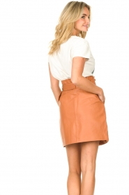 Dante 6 |  Leather wrap skirt Leith | camel  | Picture 6