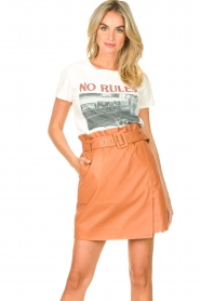 Dante 6 |  Leather wrap skirt Leith | camel  | Picture 2