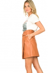 Dante 6 |  Leather wrap skirt Leith | camel  | Picture 5
