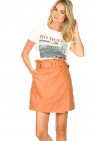 Dante 6 |  Leather wrap skirt Leith | camel  | Picture 4