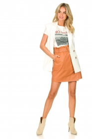 Dante 6 |  Leather wrap skirt Leith | camel  | Picture 3