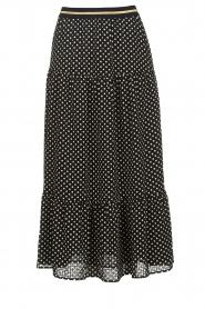 Lolly's Laundry |  Polkadot maxi skirt Bonny | black  | Picture 1