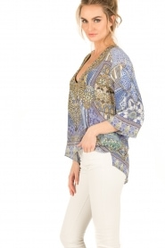 Camilla | Zijden blouse It Was All a Dream | blauw  | Afbeelding 4