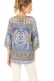 Camilla | Zijden blouse It Was All a Dream | blauw  | Afbeelding 5