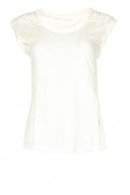 Patrizia Pepe |  Linen top Lace | off-white  | Picture 1