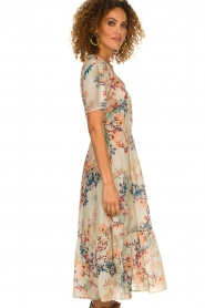 Lolly's Laundry |  Floral maxi dress Filuca | nude  | Picture 5