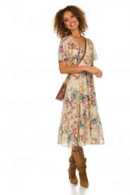 Lolly's Laundry |  Floral maxi dress Filuca | nude  | Picture 3