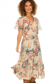 Lolly's Laundry |  Floral maxi dress Filuca | nude  | Picture 4