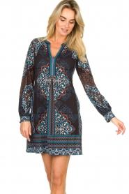 Hale Bob |  Printed dress Zemarra | black  | Picture 2