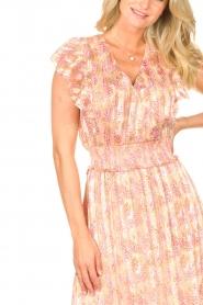 Dante 6 |  Ruffle maxi dress Luscious | pink  | Picture 7