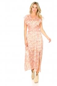 Dante 6 |  Ruffle maxi dress Luscious | pink  | Picture 4