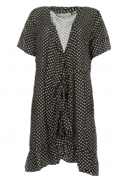 Lolly's Laundry |  Polkadot wrap dress Amber | black  | Picture 1