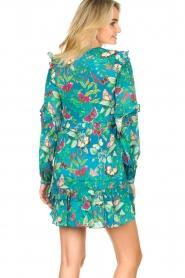 Hale Bob |  Rayon crepe dress Taourit | blue  | Picture 5