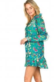 Hale Bob |  Rayon crepe dress Taourit | blue  | Picture 4