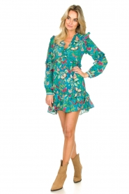 Hale Bob |  Rayon crepe dress Taourit | blue  | Picture 3
