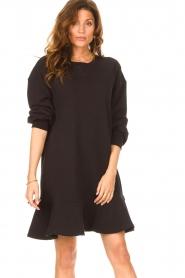 Dante 6 | Sweater jurk Josefine | zwart  | Afbeelding 2