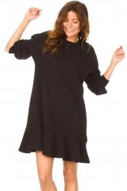 Dante 6 | Sweater jurk Josefine | zwart  | Afbeelding 4