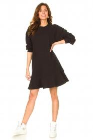 Dante 6 | Sweater jurk Josefine | zwart  | Afbeelding 3