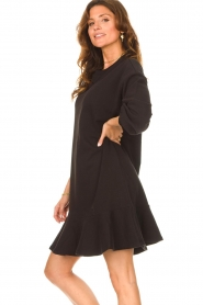 Dante 6 | Sweater jurk Josefine | zwart  | Afbeelding 6