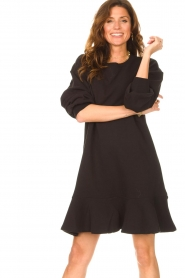 Dante 6 | Sweater jurk Josefine | zwart  | Afbeelding 5