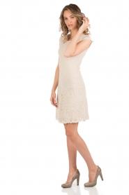 Rosemunde | Kanten jurk Paris | zand   | Afbeelding 3