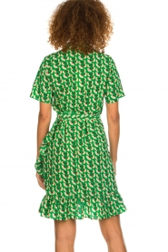 Lolly's Laundry |  Printed wrap dress Amber | green  | Picture 6