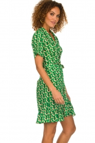Lolly's Laundry |  Printed wrap dress Amber | green  | Picture 5