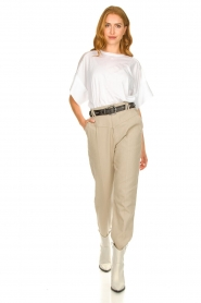 IRO |  Baggy pants Ekos | beige  | Picture 3