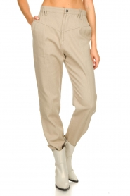 IRO |  Baggy pants Ekos | beige  | Picture 4