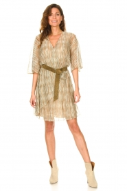 Dante 6 |  Ruffle dress with lurex Cadya | metallic  | Picture 3